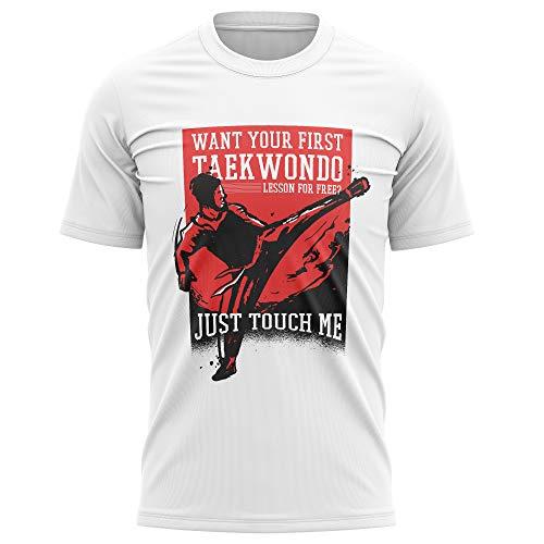 Purple Print House d-a561-5000_Tee-Men-XL-White T-Shirt, Bianco, Uomo