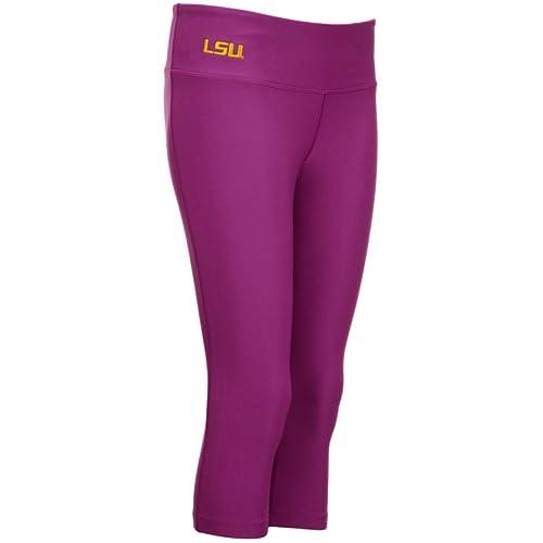 5ff94324 NIKE Womens LSU Louisiana State Tigers Dri-Fit Pro Capri Tights Leggings  Pants