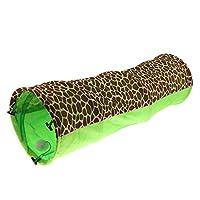 猫犬のウサギのためのペット猫のトンネルのおもちゃの管の相互プレイハウス - 緑