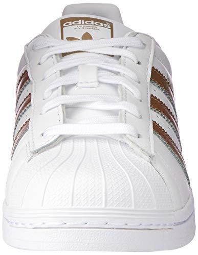 adidas Superstar, Zapatillas Mujer, Blanco (Footwear White/Cyber Metallic/Footwear White 0), 37 1/3 EU