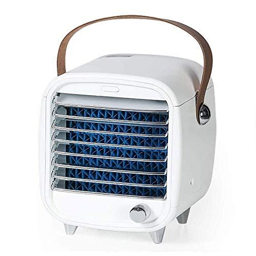Draagbare Air Conditioner Ventilator, Persoonlijke Desktop Koeling Ventilator Mini Mute Luchtzuiverer Luchtzuiverer Verdamper Luchtkoeler met Handvat voor Slaapkamer, Thuis, Auto, Kantoor