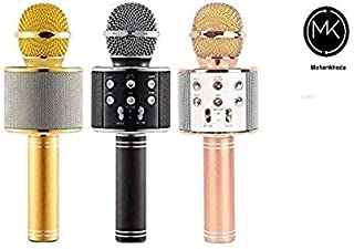MK Wireless WS-858 Handheld Bluetooth Mic Audio Recording and Karaoke Feature for Tablets PCs Smartphones