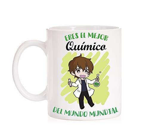 FUNNY CUP Taza Eres el Mejor Quimico del Mundo Mundial. Taza Divertida de Regalo (Quimico)
