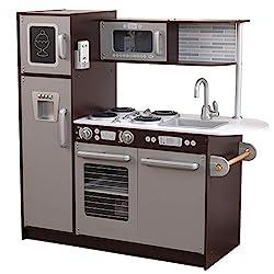 cheap KidKraft Uptown Espresso Kitchen – Amazon Exclusive, Multi, 43 x 18 x 41
