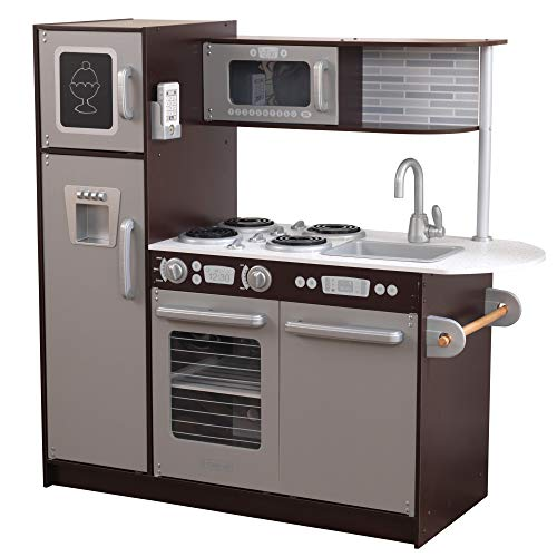 Product Image of the KidKraft Uptown Espresso Kitchen – Amazon Exclusive, Multi, 43 x 18 x 41