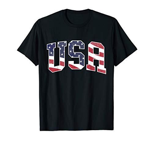 USA T-Shirt für Herren, Frauen und Kinder Flagge USA Amerika T-Shirt