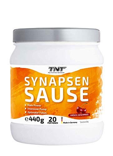 Synapsensause | Trainingsbooster | Pre-Workout-Booster | Mit Guarana und Tyrosin | 440g - 20 Portionen | Kirsch-Geschmack