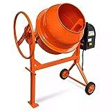 Hormigonera Acero Color Naranja 140 L 650 W
