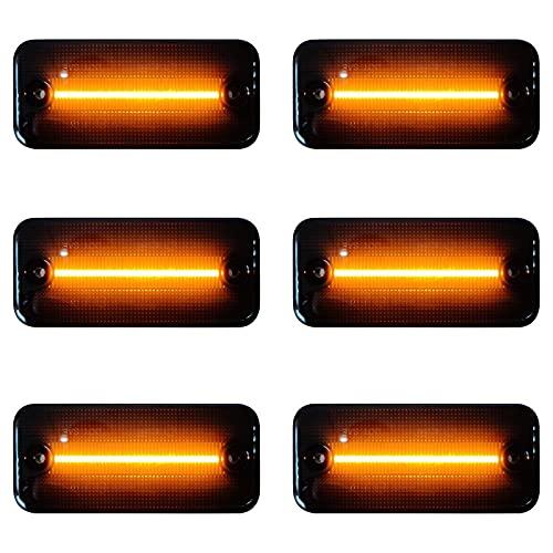 3 Paar LED Seitenmarkierungsleuchte Ersatz für Ducato, Auto LKW Begrenzungsleuchte Blinker Seitenmarkierungs Leuchte mit E8-Prüfzeichen Schwarz