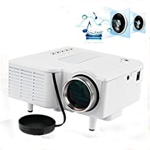 DMYI UC28 Mini Projector LED Portable Projector Home Theater Proyector PC&Laptop VGA/USB/SD/AV/HDMI Projecteur Mini Projetor (White)