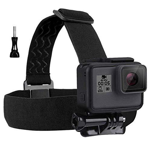 Eyeon Head Strap Mount Kopfhalterung Kopfband Halterung mit J-Haken 3 in 1 Zubehör Bundle Set für GoPro Hero 7/6/5/4/3, Xiaomi YI, SJCAM, Campark, Victure, Crosstour, Apeman Kamera