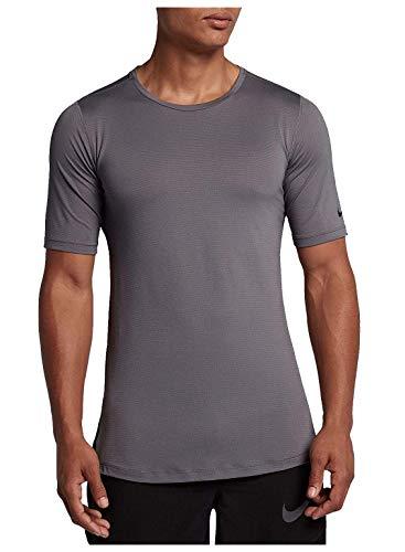 Nike M NK Top SS FTTD Utility–T-Shirt, Homme, Gris–(Gunsmoke/Black)
