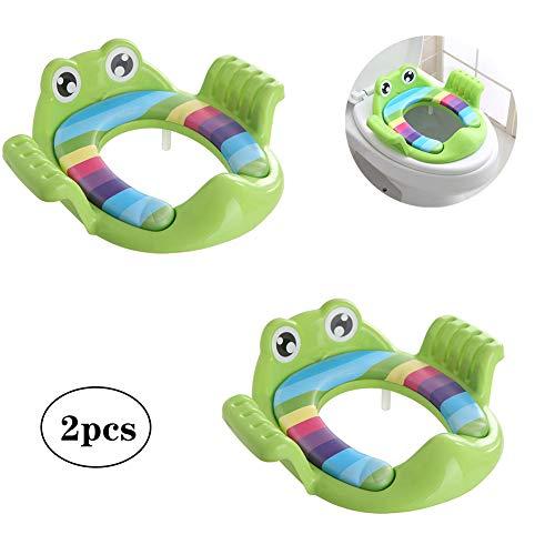 Baby Toilet Stoel Kussen Toilet Seat Ring voor Mannen En Vrouwen Baby Extra Toilet Kinderen Zittende Waser (2PCS)-blauw
