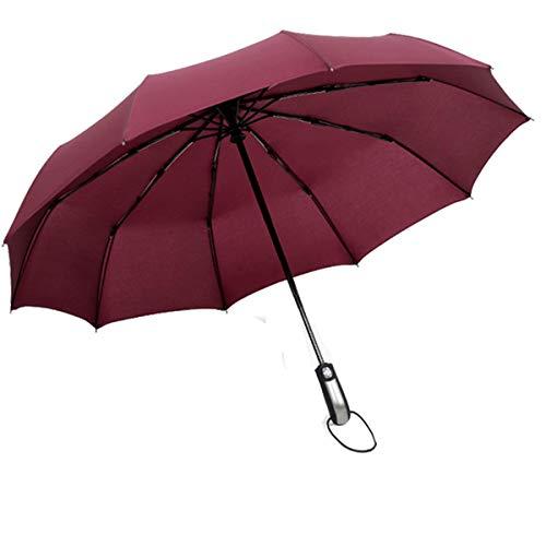 Paraguas Plegable Automáticos Antiviento, con Apertura y Cierre Automático Compacto y Ligero...