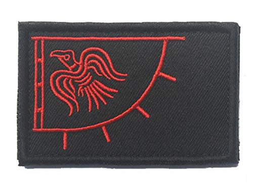 Ohrong Wikingerflagge, bestickter Aufnäher, Rabe, Banner, Abzeichen, Armband, Moral, Emblem