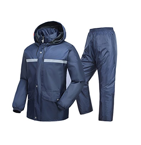 Radvihay Pantalones Impermeables Impermeables de Cuerpo Completo para Adultos, Traje Dividido (Size : XXXL)