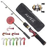 Jinsheng Zhuoyu Ice Fishing Rod Reel JIG Soft Lures Spoon Complete Kits with Fishing Equipment Bag