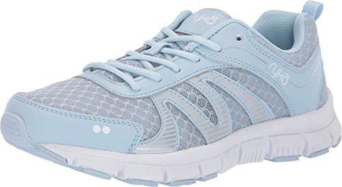 Ryka Womens Heather Walking Shoes 6.5 Soft Blue
