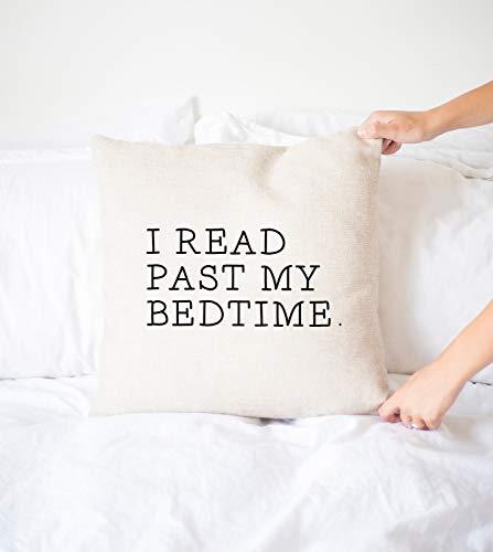 Yor242len I Read Past My Bedtime almohada, regalo de lectura, funda de almohada, funda de almohada decorativa, lector, lectura, almohada divertida, regalo divertido, decoración del hogar