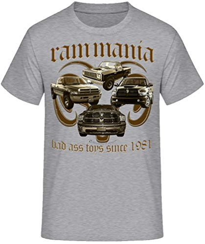 RAM, American Pickup Truck, US Car,Mopar V8, Dodge, Muscle car, Shirt oder Hoodie (S, Mania grau)