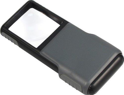 Carson MiniBrite Taschenlupe mit asphärischer Linse und Schutzabdeckung in der Vergrößerung 5x