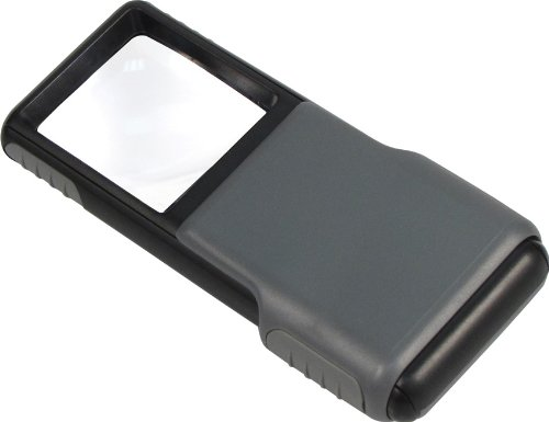 Carson 5x MiniBrite LED Lighted Slide-Out Aspheric Magnifier with Protective Sleeve - Set of 4 (PO-55MU)