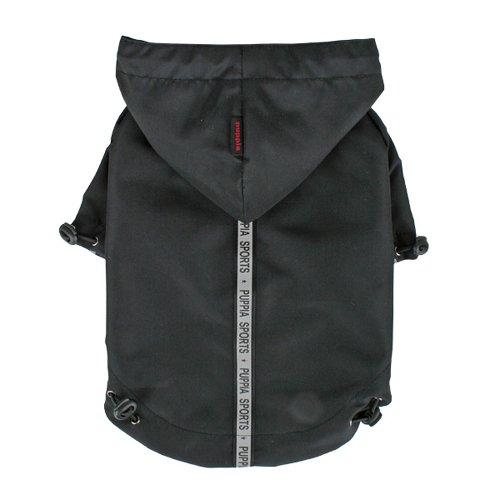Puppia PEAF-RM03 Base Jumper Regenmantel, schwarz, Große L