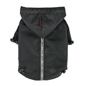 Puppia Authentic Base Jumper Raincoat, 3X-Large, Black