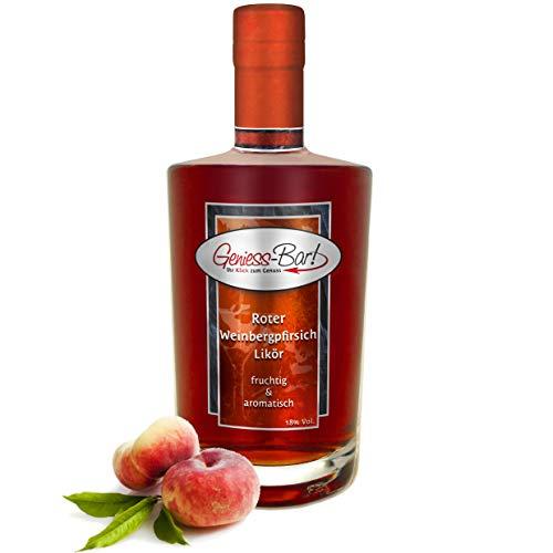 Roter Weinbergpfirsich Likör 0,7L saftig aromatisch & lecker! 18% Vol