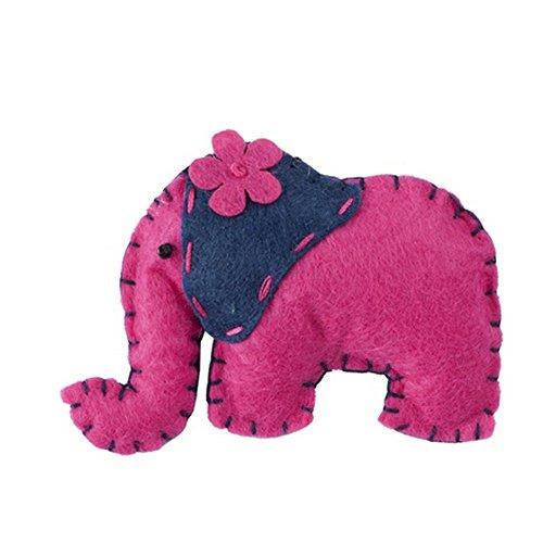 Broche Tropical criaturas (elefante) con fieltro y hierro por Joe Cool