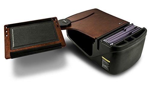 AutoExec AUE10018 Reach Front Seat Car Desk Mahogany Finish with Built-in 200 Watt Power Inverter