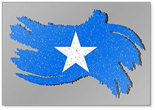 Somalië Grunge vlag, Somalië vlag met schaduw op geïsoleerde achtergrond Illustratie Koelkast magneet