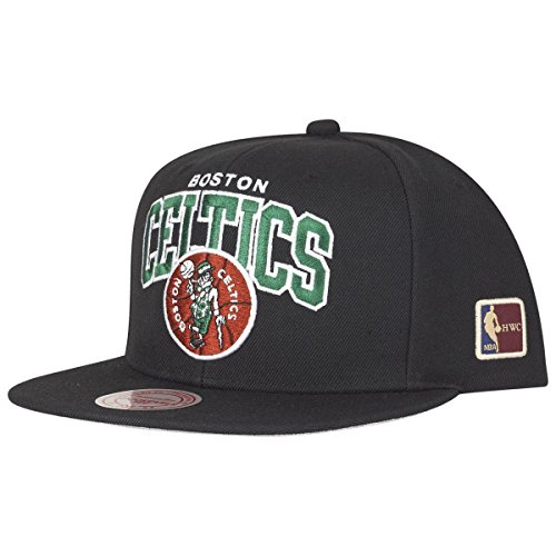 Mitchell & Ness Boston Celtics HUD127 Black Team Arch Snapback Cap HWC NBA