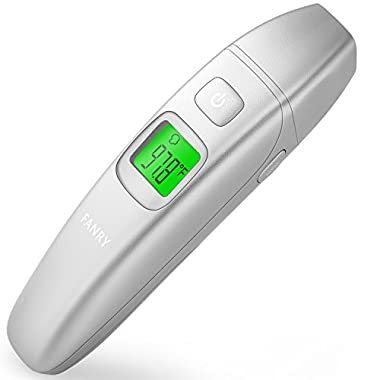 FANRY Medical Digital Ear and Forehead Thermometer for Fever,Suitable for Babies, Children & Adults With FDA and CE Approved
