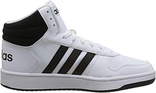 adidas Herren Hoops 2.0 Mid Fitnessschuhe, Weiß (Ftwbla/Negbás/Negbás 000), 42 EU