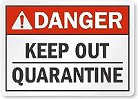 危険は検疫を避けてください。金属錫標識通知街路交通危険警告耐久性、防水性、防錆性