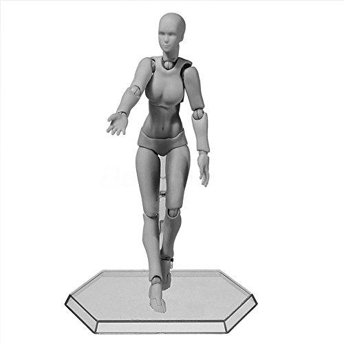 Starall Action Figuren Modell, Menschlichen Schaufensterpuppe Mann / Frau Action-Figur Set mit Zubehör Kit, ideal für Zeichnung, Skizzieren, Malerei, Künstler, Cartoon-Figuren Aktion