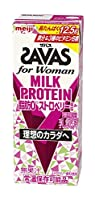 【ケース販売】明治 ザバス(SAVAS) for Womanミルクプロテイン 脂肪0 ストロベリー風味 200ml×24本入