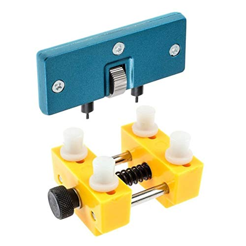 nbvmngjhjlkjlUK 2-teiliges Werkzeug zur Reparatur von Uhren Set Set zum Öffnen des Uhrengehäuses Set zum Öffnen der hinteren Abdeckung der Uhr Kit zum Wechseln der Batterie (gelb)