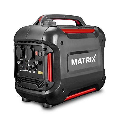 MATRIX PG 2000i Stromgenerator   1880 Watt Spitzenleistung   Invertertechnik für empfindliche Geräte   2 Schuko Steckdosen   Euro5 Abgasnorm