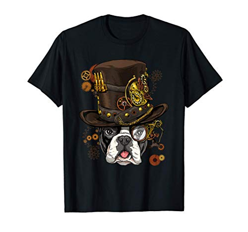 Steampunk French Bulldog Dog Steampunk French Bulldog Lovers T-Shirt