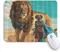 マウスパッド アフリカののレトロなスタイル ゲーミング オフィス おしゃれ がい りめゴム ゲーミングなど ノートブックコンピュータマウスマット 24cm x 20cm