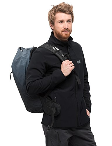 Jack Wolfskin Herren Essential ALTIS Men Softshell-Jacke Atmungsaktiv Wind-und Wasserabweisend Mit Systemreißverschluss Regular Softshelljacke, schwarz, XL