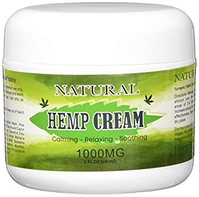 Natural Hemp Extract Cream - 1000Mg - Natural Hemp Pain Relief Cream for Inflammation, Muscle, Joint, Back, Knee & Arthritis Pain from BD Innovation Electronics