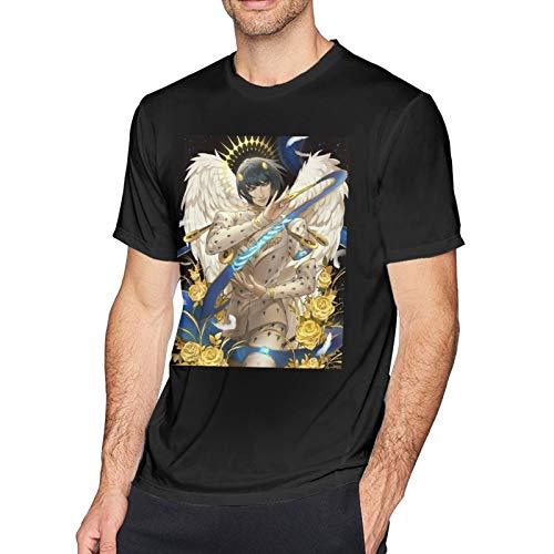 DCEGas Bruno Bucciarati - Camiseta de manga corta para hombre, algodn, cuello redondo, color negro