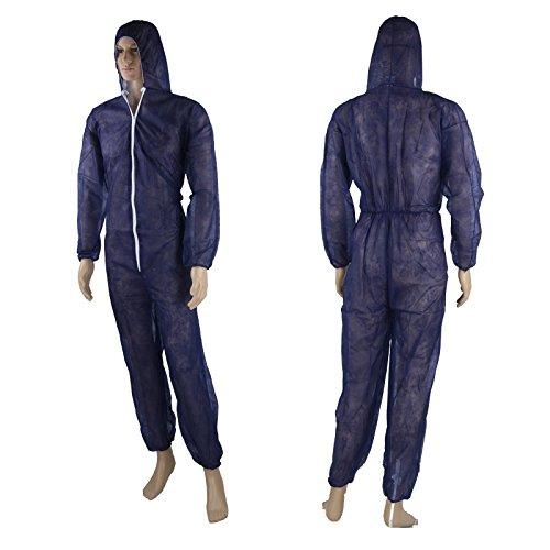Einwegoverall Maleranzug Schutzanzug Lakieranzug Overall blau L