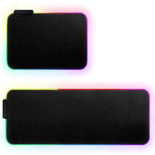 Y-hm Sensación cómoda 35 * 25 * 0.3 cm RGB Colorido Retroiluminado LED Pequeño Almohadilla de Ratón Anti-Skid Mats de Seguridad Diseño portátil