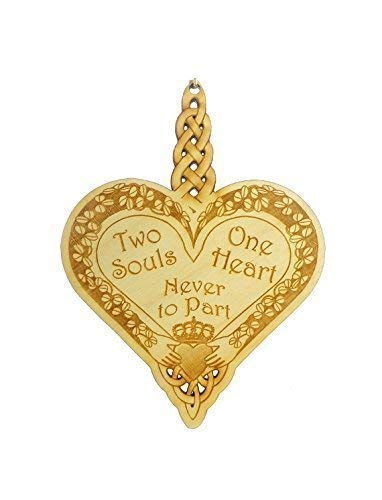 Two Souls, One Heart, Never to Part - Celtic Heart Ornament - Special Couple Christmas Ornament - Irish Wedding Gifts - Claddagh