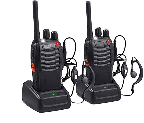 Aottom Walkie Talkie Recargable PMR 446 Walkies Profesionales 16 Canales 3 km Walkie Talkie Profesional con Cargador USB y...