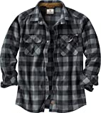 Legendary Whitetails Men's Standard Navigator Fleece Button Down Shirt, Graphite Plaid, X-Large
